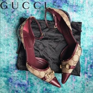 Rare Authentic GUCCI Monogram Studded Shoes